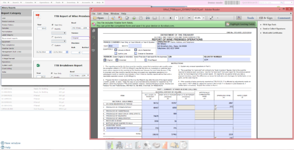Winery Record Keeping Spreadsheet Within The Business Of Wine. Moving Beyond Excel.  Vintrace