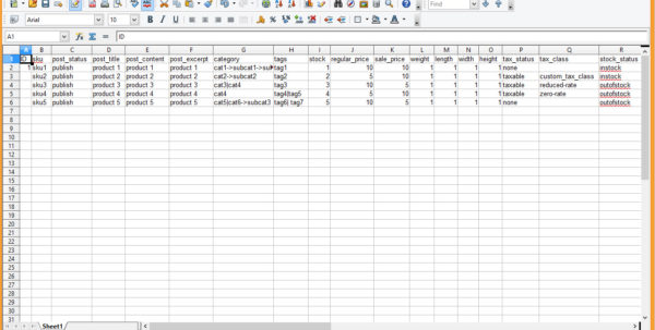 Woocommerce Spreadsheet Within Woocommerce. How To Import Data From Csv Files  Template Monster Help