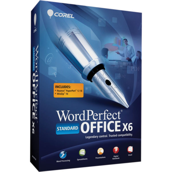 Wordperfect Spreadsheet Intended For Corel Wordperfect Office X6 Standard Edition Wpx6Stdenmbam Bh