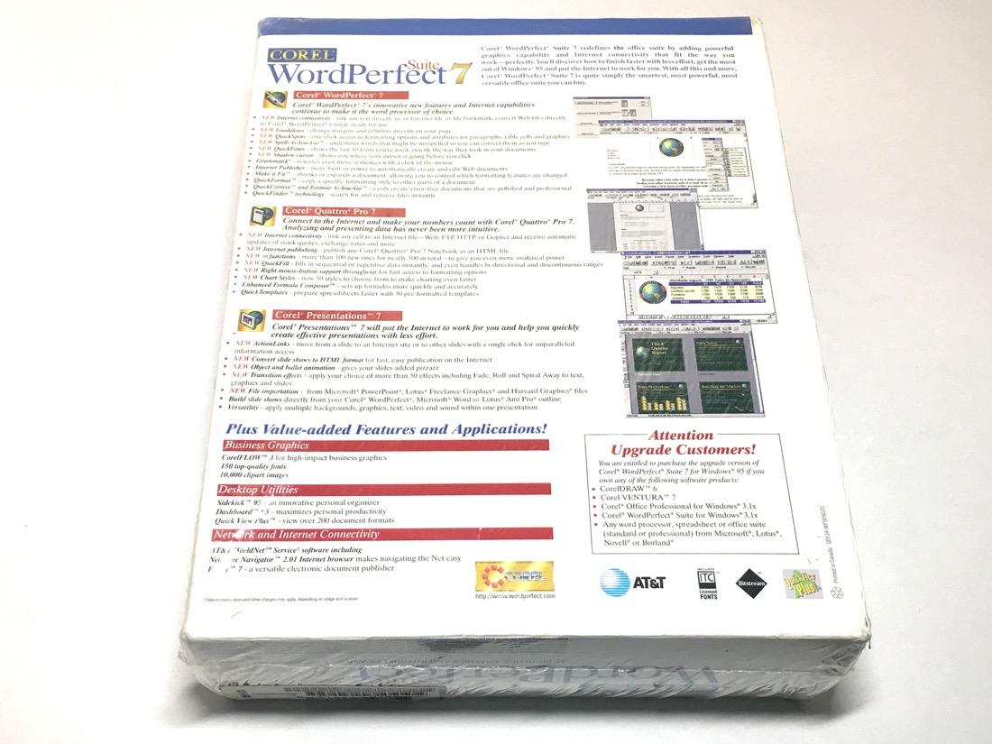 Wordperfect Spreadsheet With Corel Wordperfect Suite 7 [Cdrom] Windows 95  New  Free Shipping
