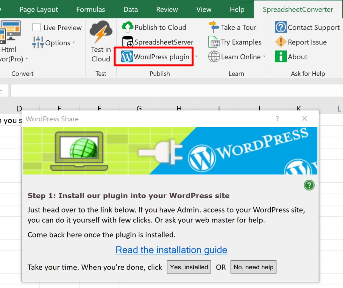 Wordpress Spreadsheet Plugin For Help: Upload A Spreadsheet To Wordpress  Spreadsheetconverter