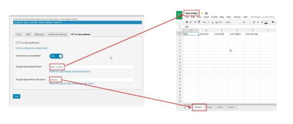 Wordpress Spreadsheet Plugin Pertaining To How To Configure Your Spreadsheet With Cf7 To Spreadsheet Plugin