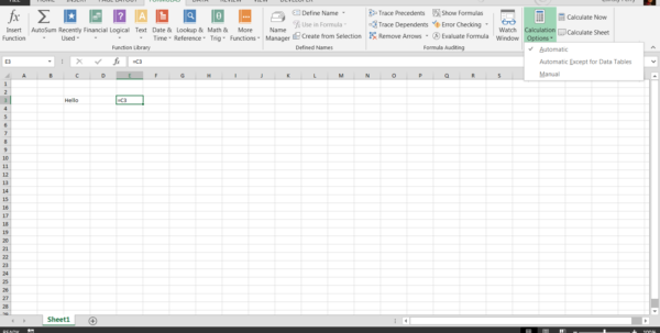 Work From Home Creating Spreadsheets With Why Is Your Excel Formula Not Calculating?  Pryor Learning Solutions