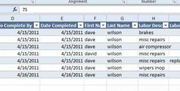 Work Order Tracking Spreadsheet Throughout Tatems Maintenance Software Spreadsheet  Labor Work Orders