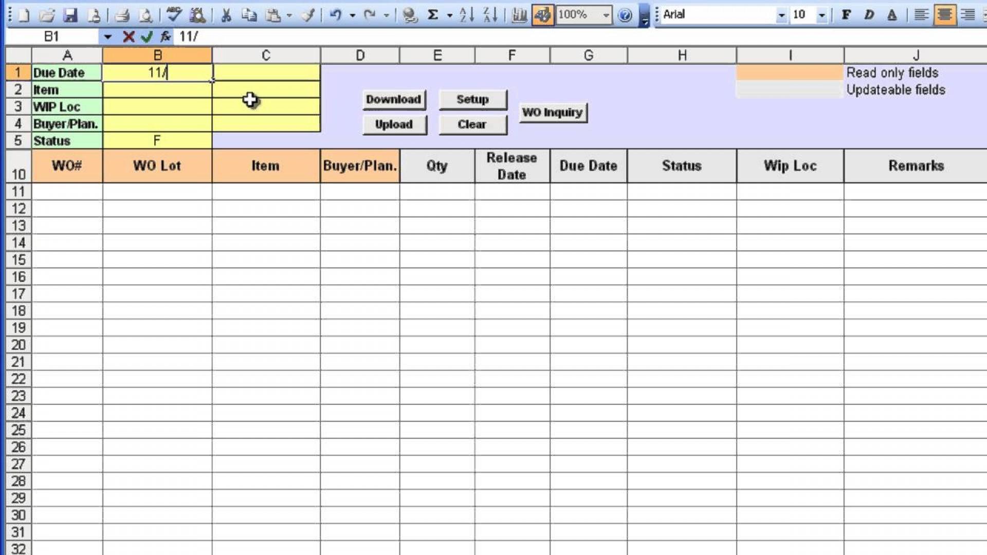 Work Order Tracking Spreadsheet With 009 Template Ideas Excel Work Order ~ Ulyssesroom