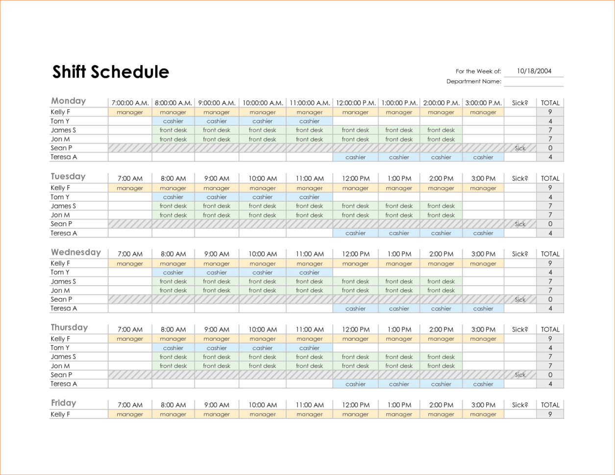 Work Schedule Spreadsheet Excel In Monthly Work Schedule Template Excel And 4 Monthly Schedule Template