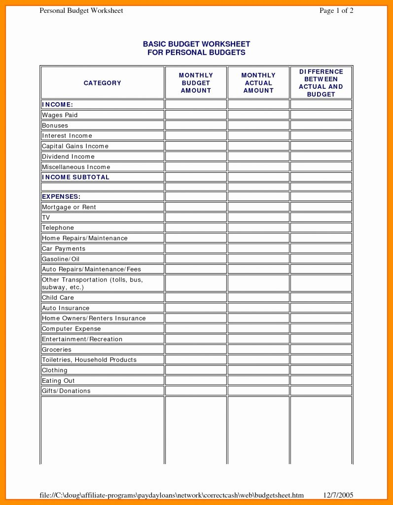 Work Spreadsheet With Regard To Monthly Bills Excel Template Personal Budgeting Fresh Bakery