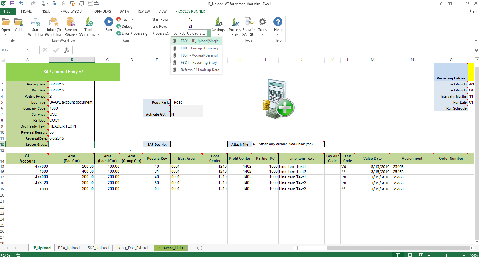 Workflow Spreadsheet Template Intended For Create Form In Excel To Input Data Innowera Easy Workflow For Sap