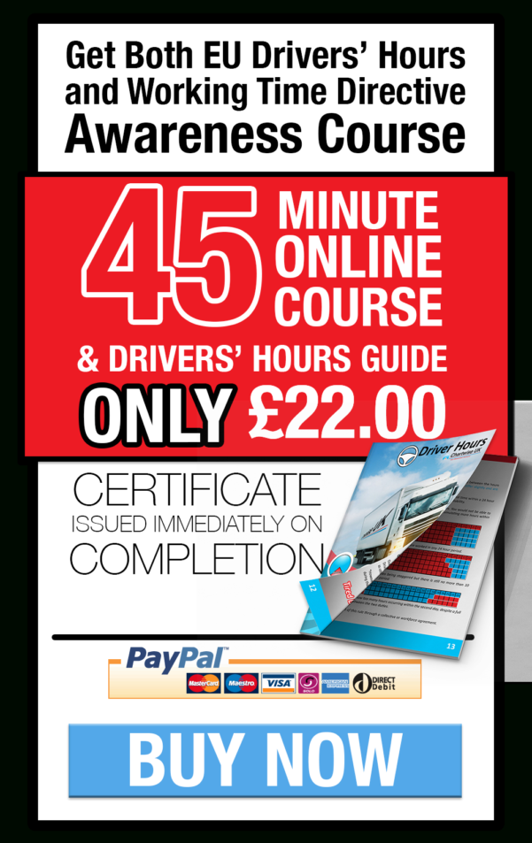 Working Time Directive Drivers Hours Spreadsheet With Regard To Online Courses  Driver Hours