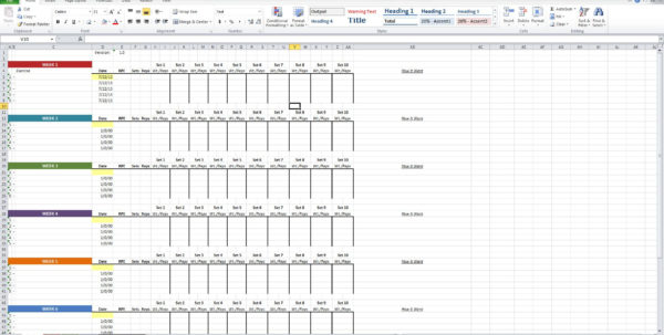 Workout Routine Spreadsheet Pertaining To Niel K. Patel: Download: Training Log Spreadsheet