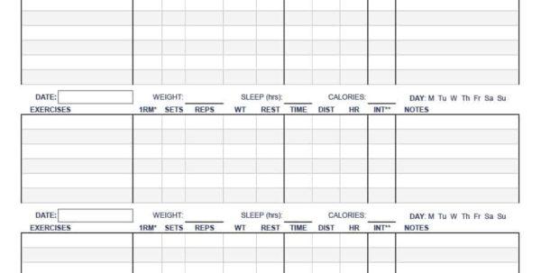 Workout Spreadsheet Excel Template Intended For 40  Effective Workout Log  Calendar Templates  Template Lab Workout Spreadsheet Excel Template Google Spreadsheet