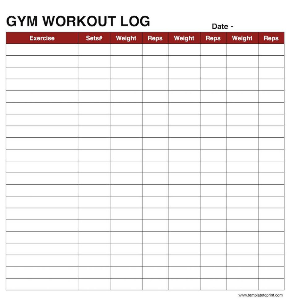 Workout Spreadsheet For Workout Template Spreadsheet Sheet Routine Templates Excel Tracking