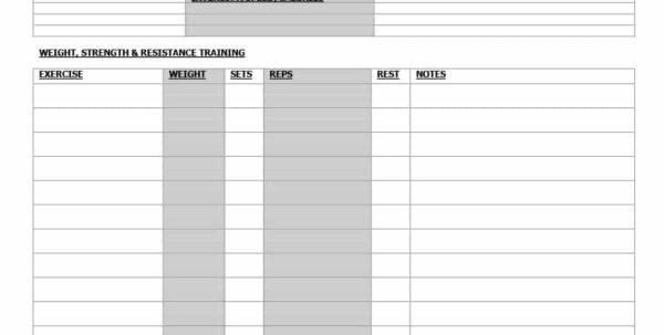 Workout Spreadsheet Inside 40  Effective Workout Log  Calendar Templates  Template Lab