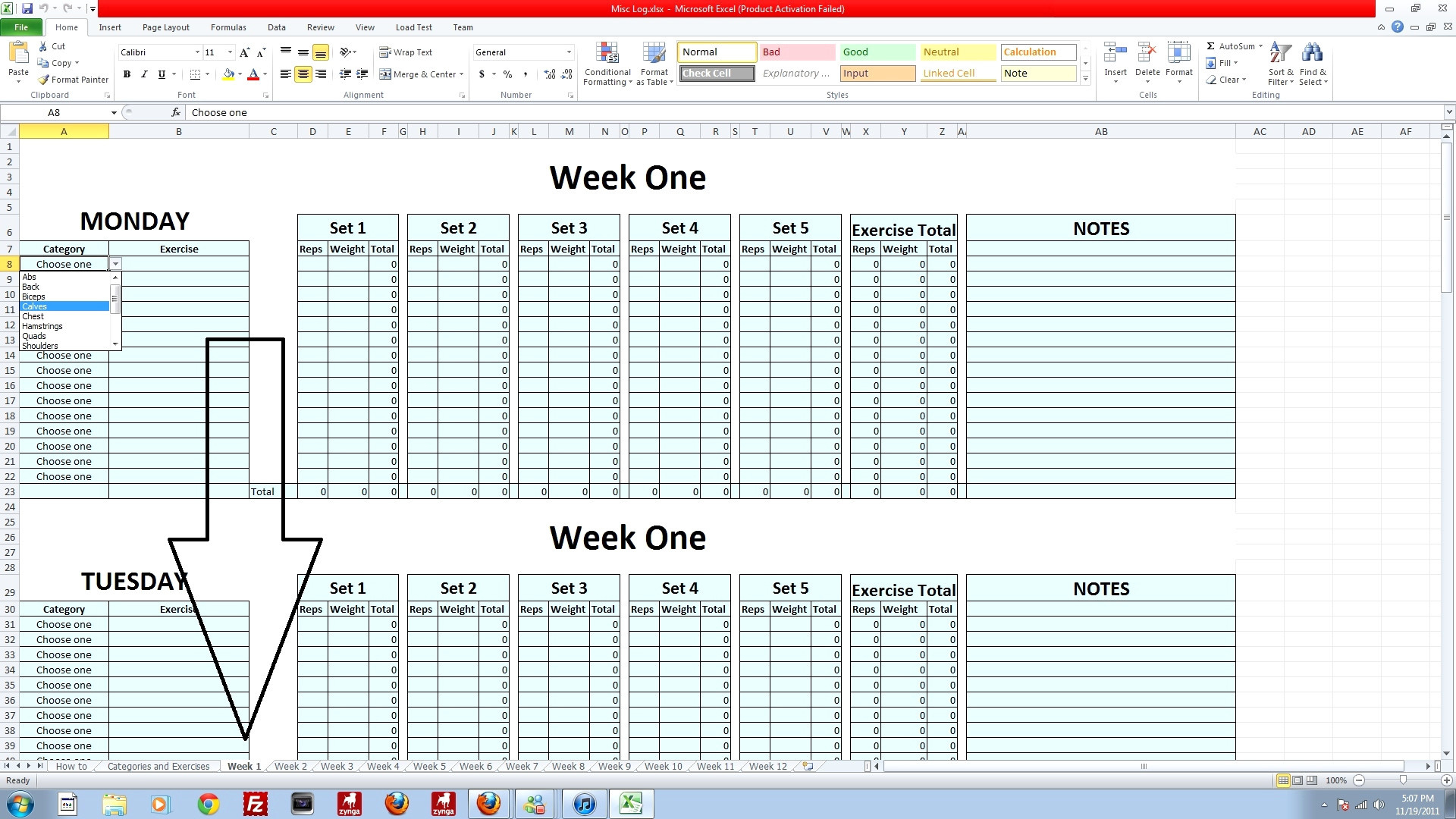 Workout Spreadsheet With Regard To Workout Log Template Excel – Spreadsheet Collections