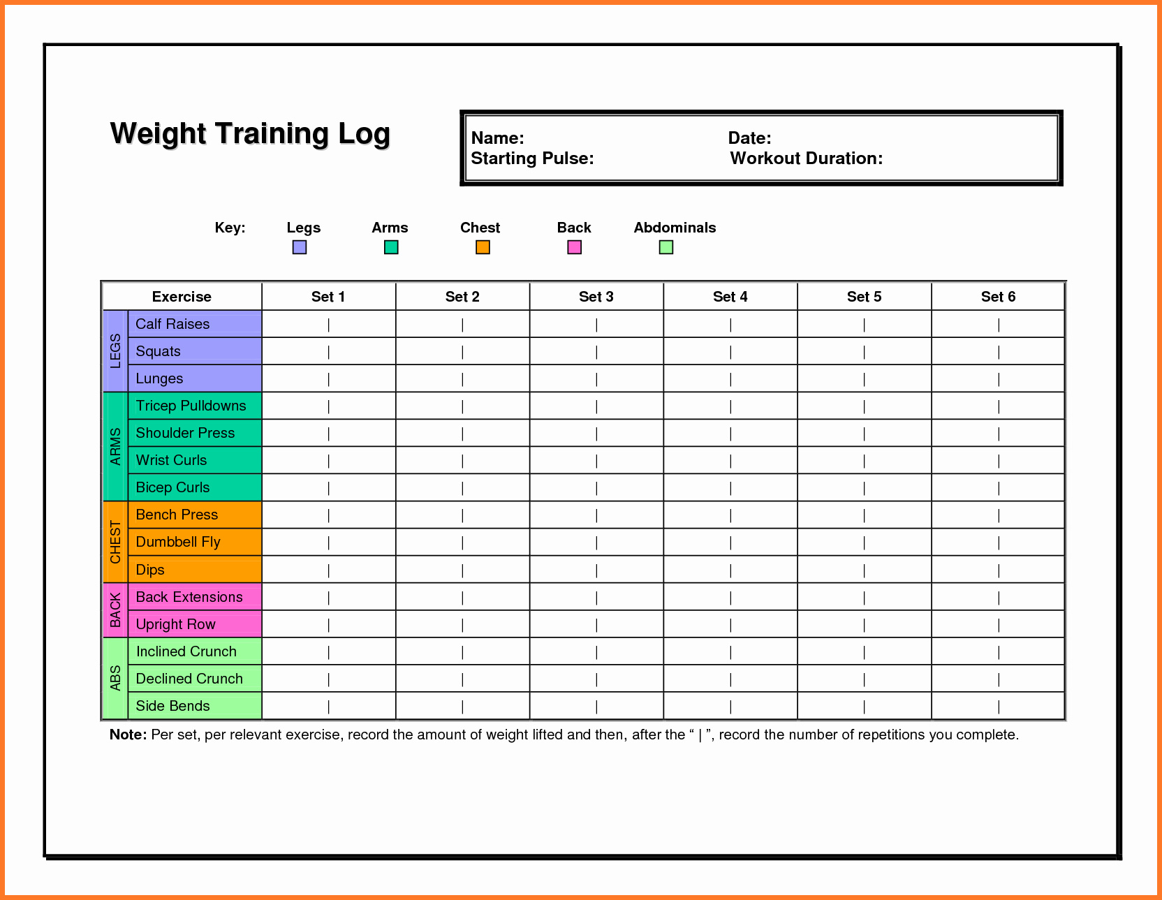 Workout Template Spreadsheet Intended For Excel Workout Template  Spreadsheet Collections