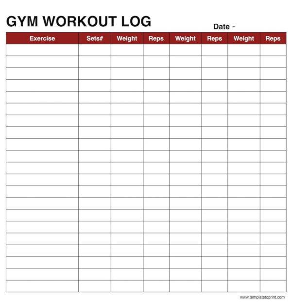Workout Template Spreadsheet Regarding Workout Log Sheet Template  Rent.interpretomics.co