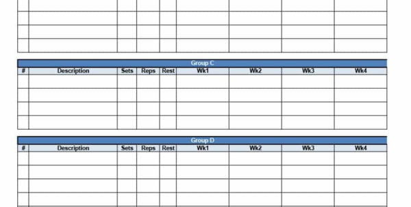 Workout Template Spreadsheet Throughout 40  Effective Workout Log  Calendar Templates  Template Lab