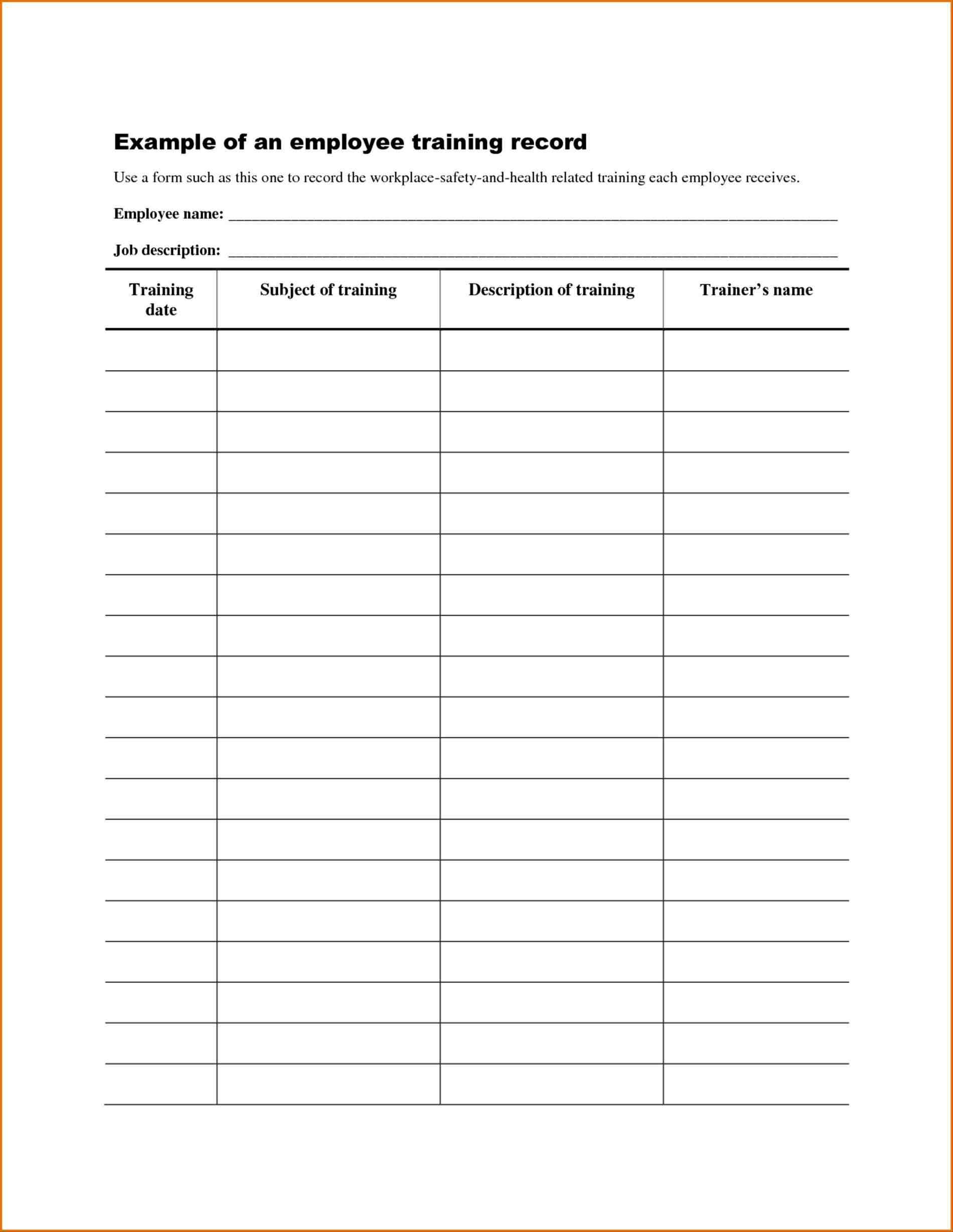Workout Tracker Spreadsheet Within Workout Log Template Excel Inspirational Employee Training Records