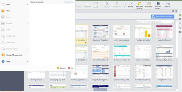 Wps Spreadsheet Templates Within Wps Office 2015 – Free Microsoft Office Alternative  Cyber Raiden Wps Spreadsheet Templates Google Spreadsheet