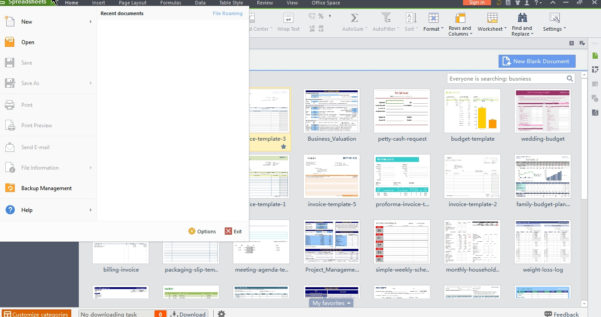 Wps Spreadsheet Templates Within Wps Office 2015 – Free Microsoft Office Alternative  Cyber Raiden