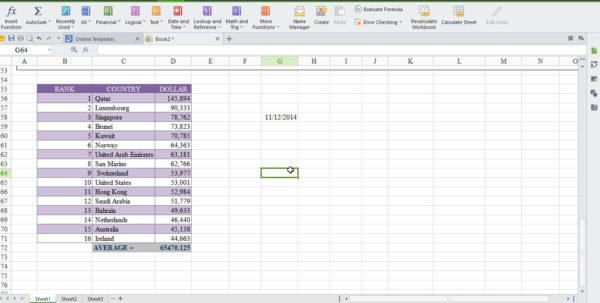 Wps Spreadsheet With Wps Office 2015 – Free Microsoft Office Alternative  Cyber Raiden Wps Spreadsheet Printable Spreadsheet