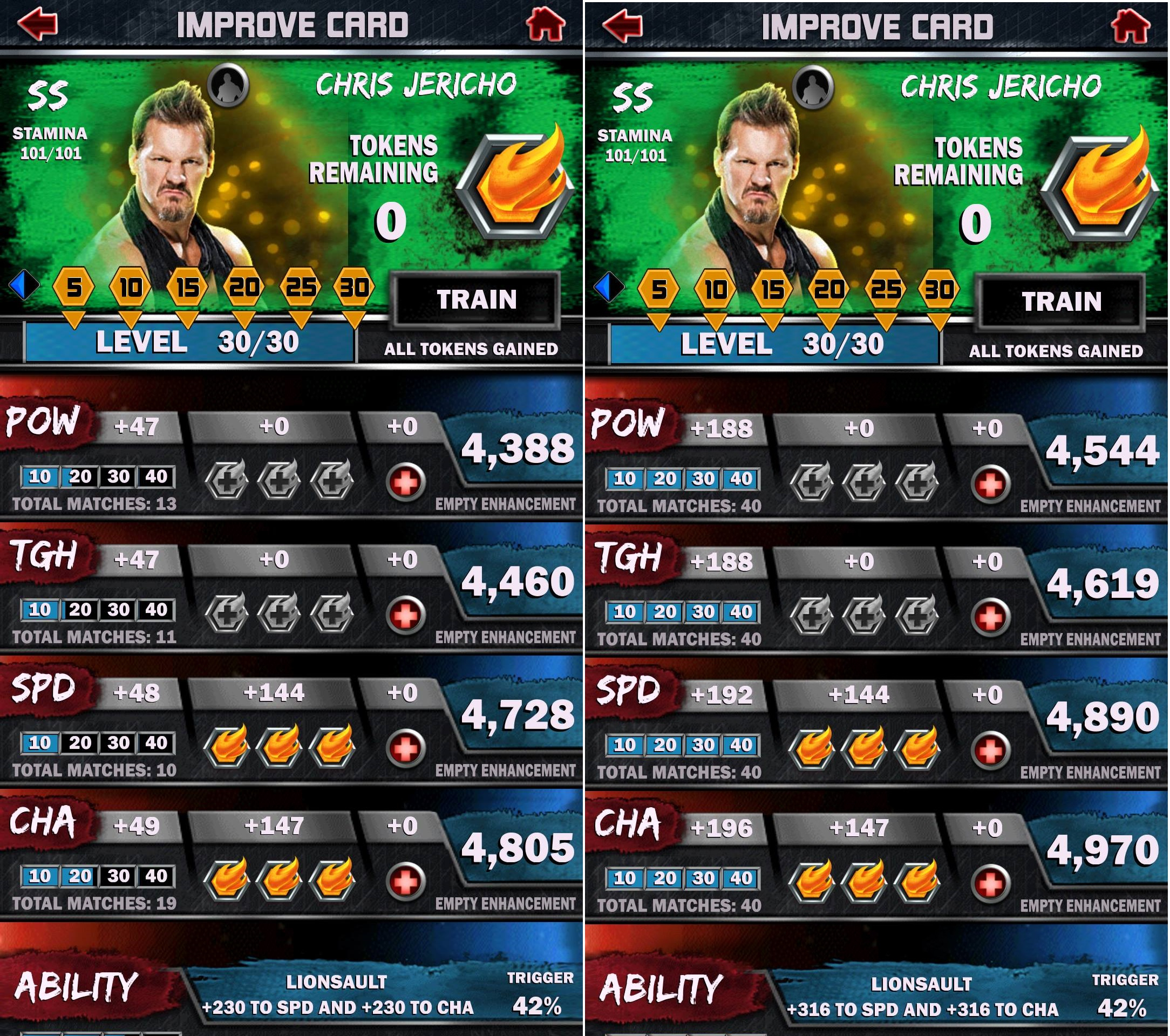 Wwe Supercard Stats Spreadsheet For Noob Question: Same Max Cards But Different Stats? : Wwesupercard