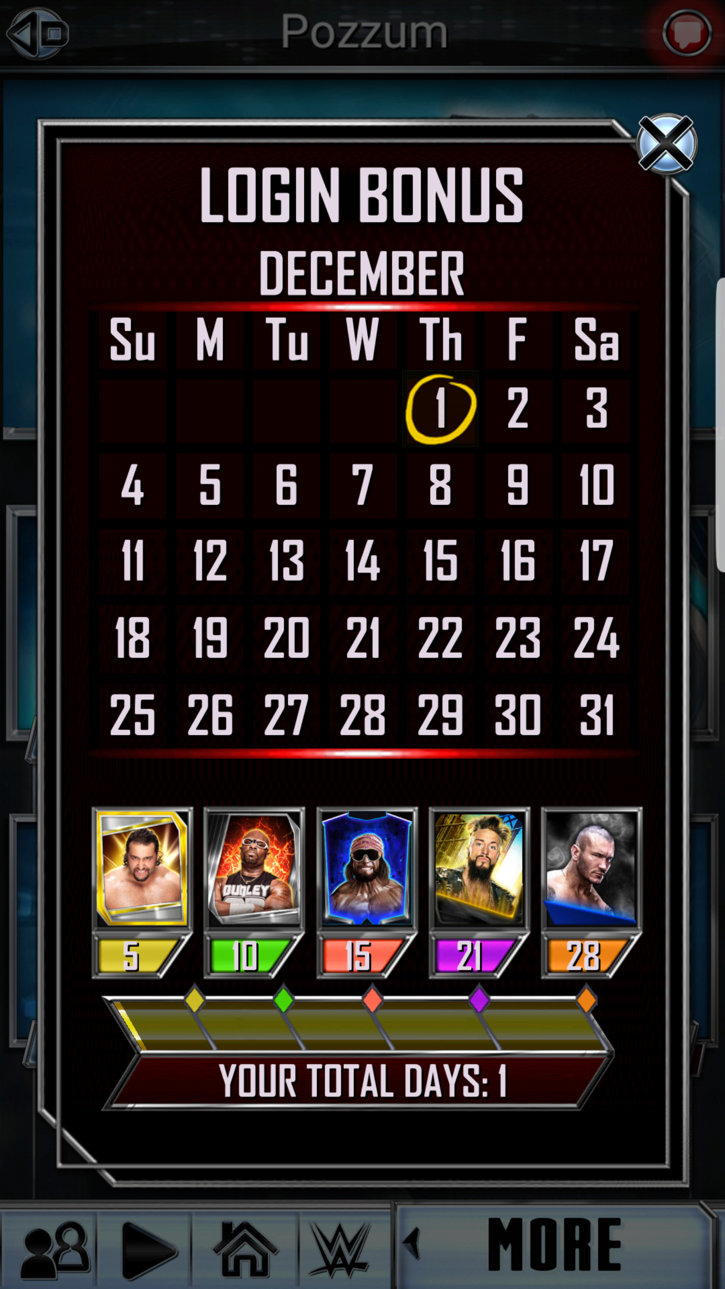 Wwe Supercard Stats Spreadsheet Inside Log In Rewards: December 2016 : Wwesupercard