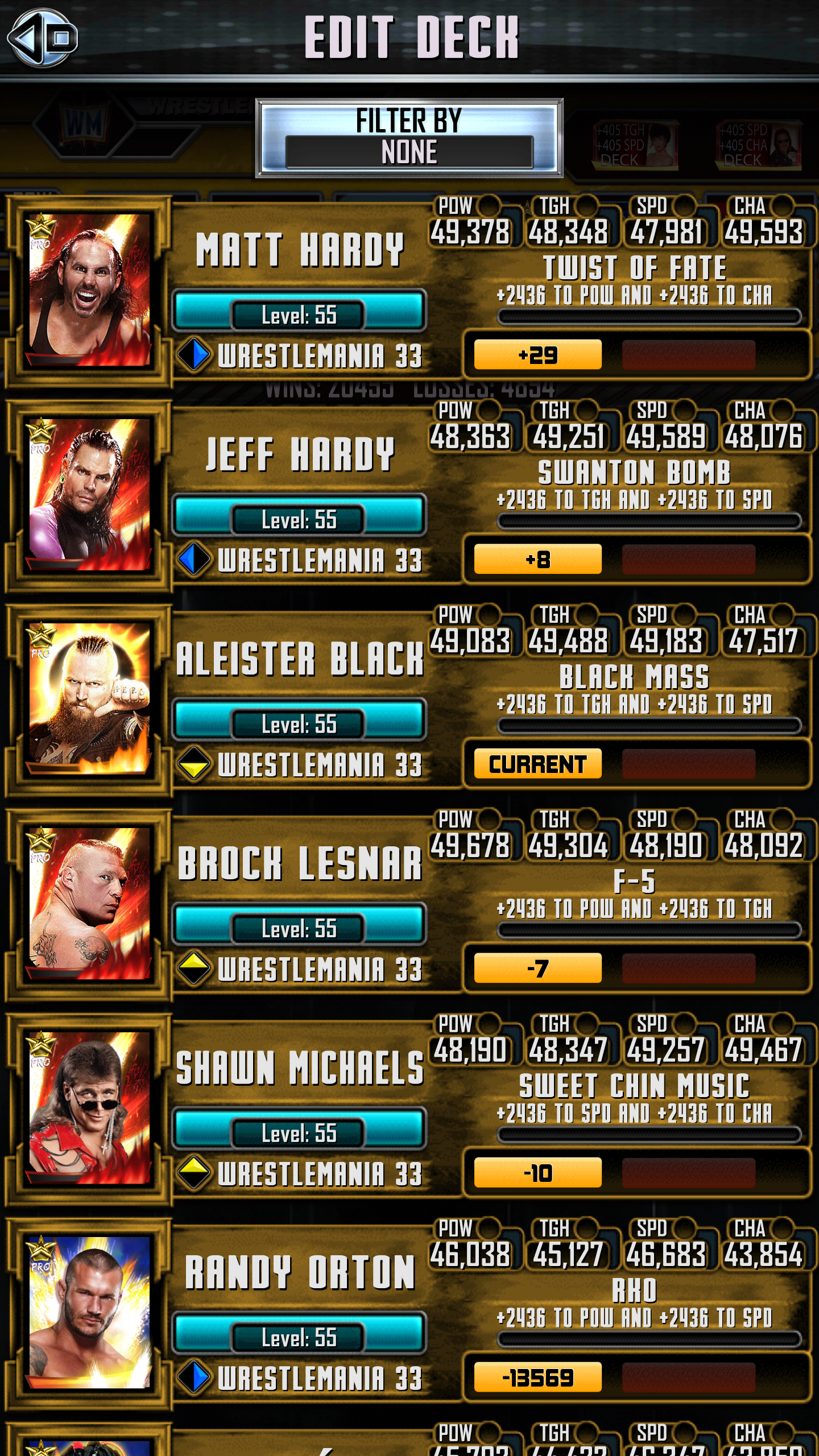 Wwe Supercard Stats Spreadsheet Throughout Official Road To Glory Discussion: Aleister Black : Wwesupercard