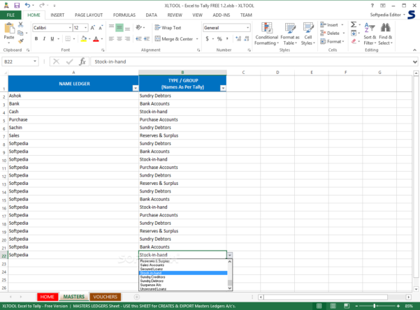 Xl Spreadsheet Free Intended For Download Xltool  Excel To Tally Free 11.133