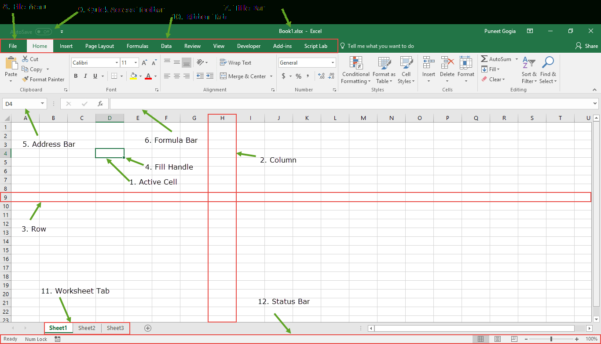 Xl Spreadsheet Help Inside Introduction To Microsoft Excel  Basics Knowledge   Components
