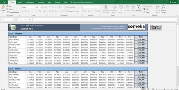 Xl Spreadsheet Templates Inside Salesman Performance Tracking  Excel Spreadsheet Template