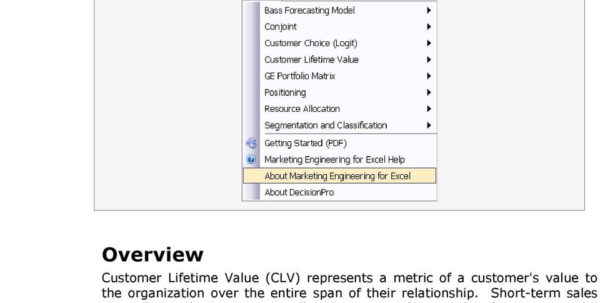 Xl Spreadsheet Tutorial In Tutorial Customer Lifetime Value  Pdf