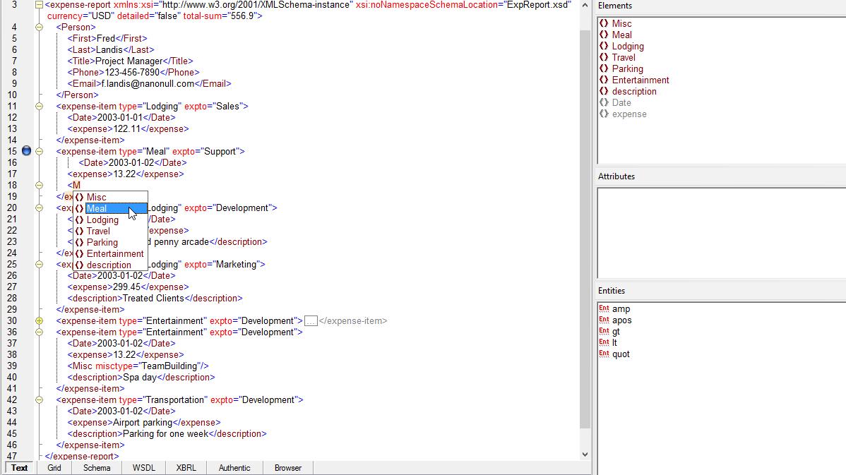 Xml Spreadsheet Editor Throughout Xml Viewer  Altova