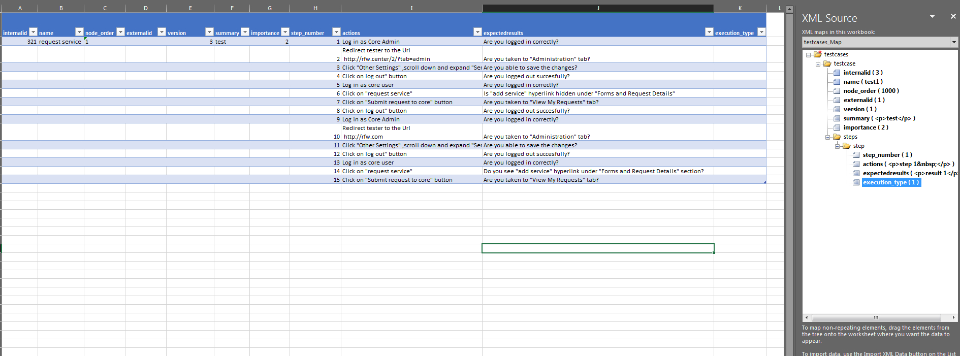 Xml Spreadsheet Within Manual Testing  Need Help With Importing Testcases In To Testlink