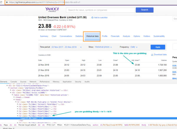 Yahoo Finance Spreadsheet Within Automatically Get Yahoo Finance End Of Day Stock Price In Your