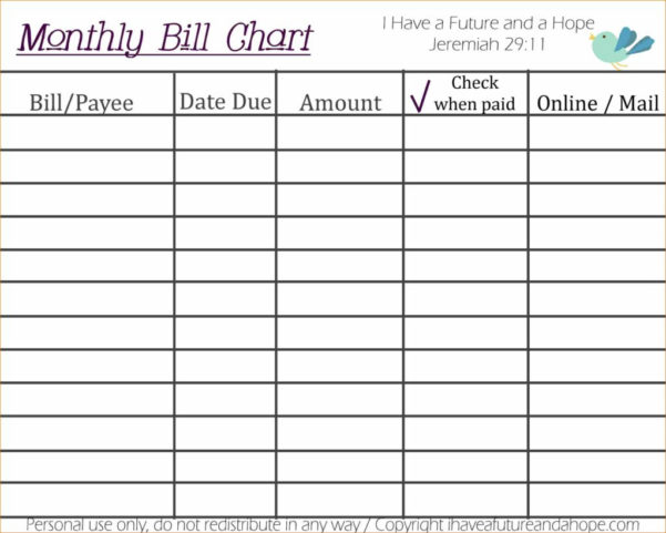 Yearly Bills Spreadsheet Throughout Monthly Bills Spreadsheet Template Excel Business Budget And Yearly