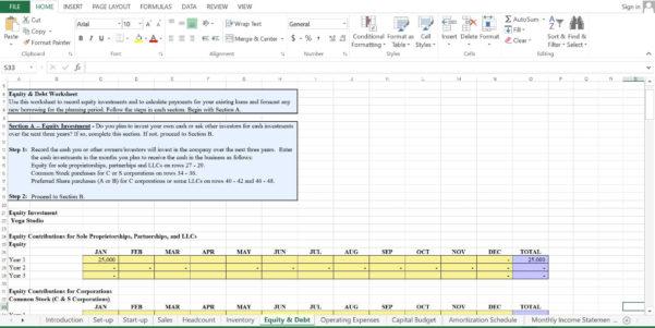 Yoga Studio Excel Spreadsheet For Yoga Studio Business Plan Template  Black Box Business Plans