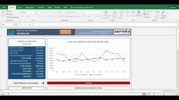 Youtube How To Use Excel Spreadsheet With Profit And Loss Statement Template Free Excel Spreadsheet Youtube
