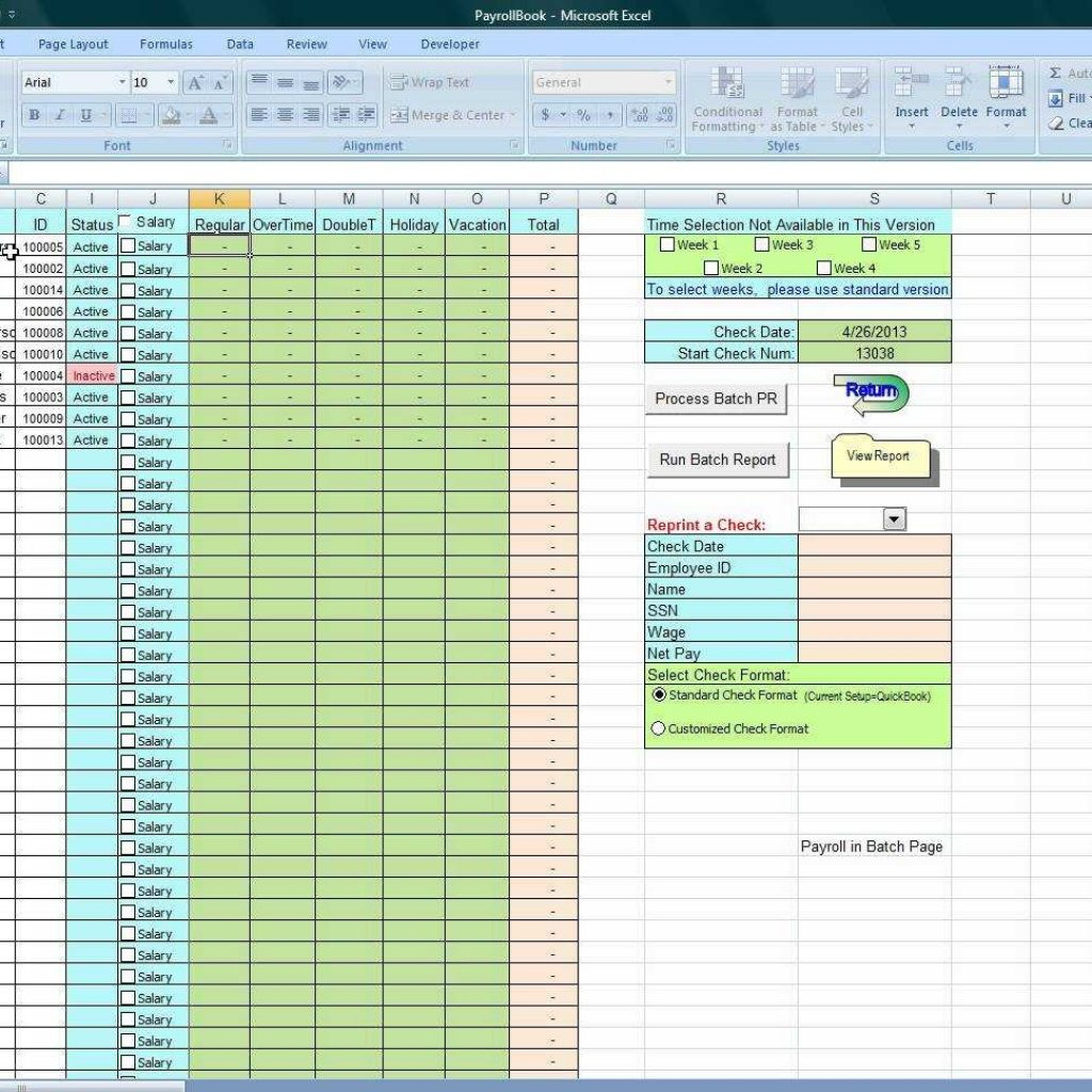 Youtube How To Use Excel Spreadsheet With Regard To Using Excel To Process Payroll Dyi  Youtube Regarding Excel