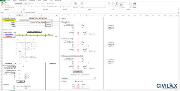 Z Purlin Design Spreadsheet Regarding Design Of Z Purlins  Civil Engineering Community