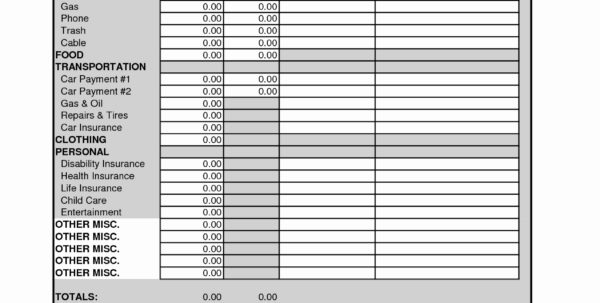 Zero Based Budget Spreadsheet For Zero Based Budget Spreadsheet Dave Ramsey Of Dave Ramsey Monthly Bud