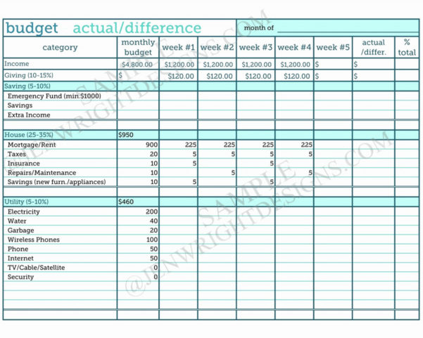 Zero Based Budget Spreadsheet In Zero Based Budget Spreadsheet Dave Ramsey Best Of Form
