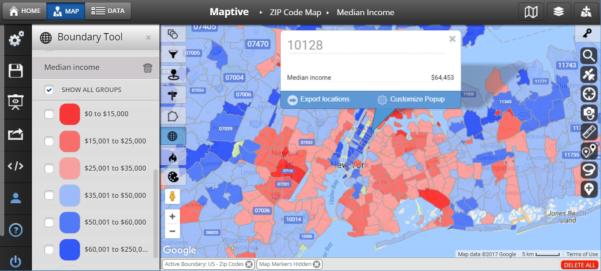 Zip Code Spreadsheet Inside Zip Code Map United States  Maptive