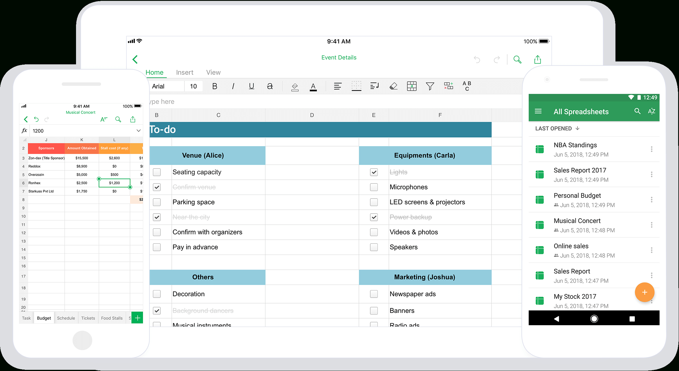 Zoho Spreadsheet intended for Spreadsheet App For Ios And Android  Zoho Sheet