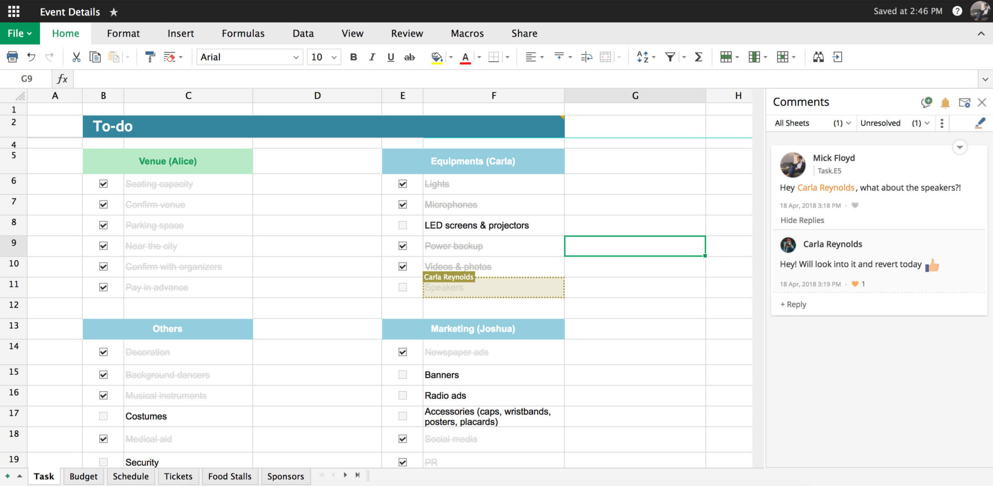 Zoho Spreadsheet Login With Charts, Comments, And Other Features  Zoho Sheet