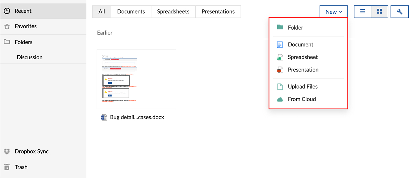 Zoho Spreadsheet Within Create Documentszoho Projects