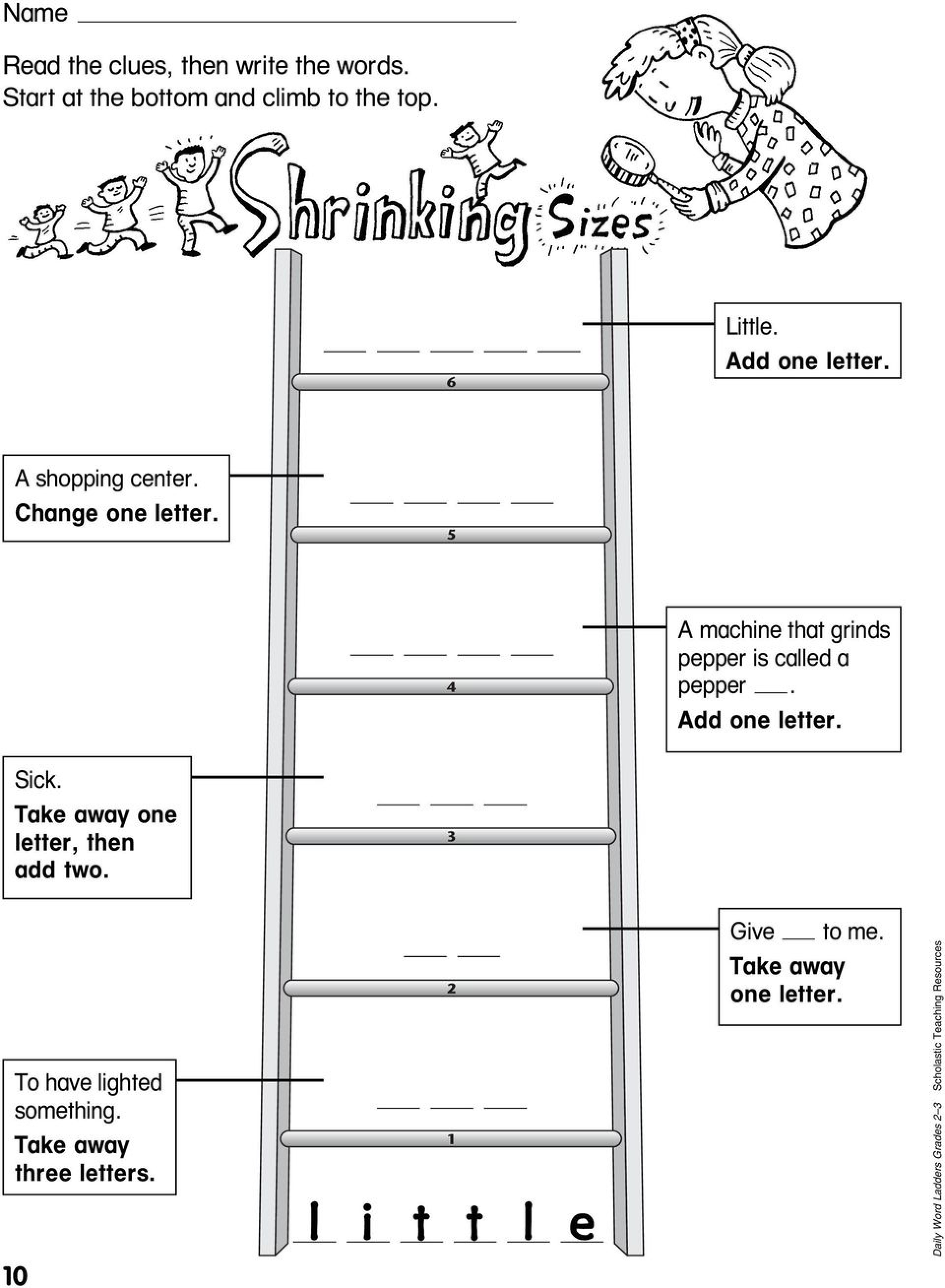 002 Printable Word Ladders Middle School Excellent  Istherewhitesmoke