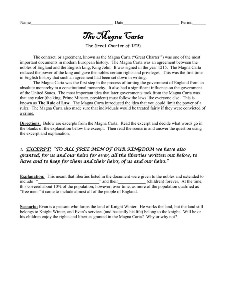 11 Magna Carta Primary Source   db excel.com