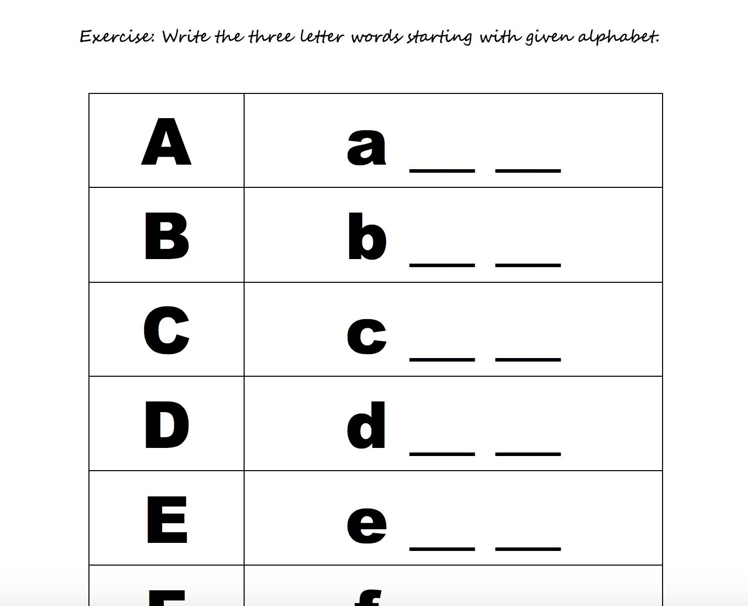 208 Free Alphabet Worksheets — db excel.com