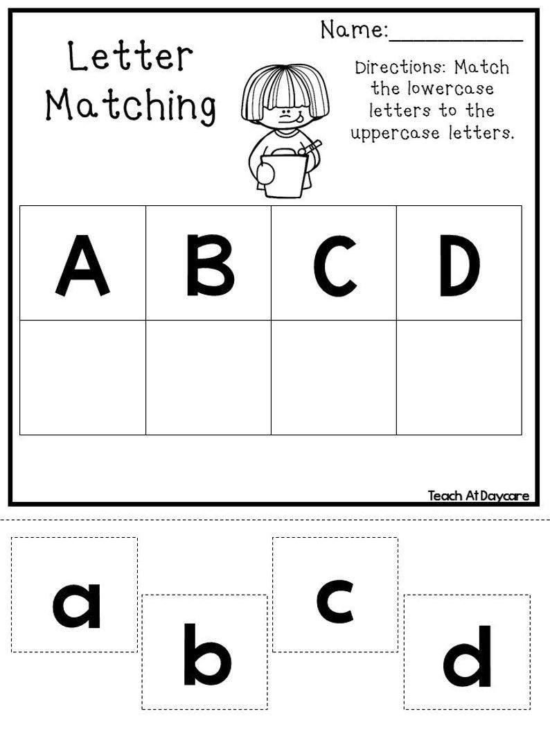 21 Printable Alphabet Matching Worksheets Preschoolkdg ...